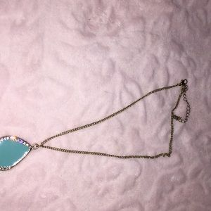 Pretty Turquoise colored with crystals